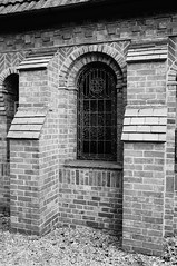 Single window (Jon-UK) Tags: windows bw white black brick church details adoremus adorer adorar  adhradh addoliad