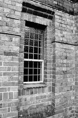 Window (Jon-UK) Tags: windows bw white black brick church details adoremus adorer adorar  adhradh addoliad