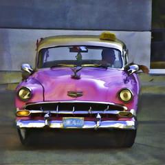 Awaiting (Artypixall) Tags: texture chevrolet vintagecar havana cuba digitalpainting getty faa lahabana 1950samericancar