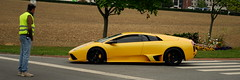 Yellow. (C'Dally) Tags: black yellow lamborghini murcielago lambo lamborghinimurcielago linselles lp6404 ludopital ferrarissime ferrarissim ferrarissimelinselles meetingferrari