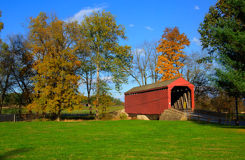 Loy's Station Covered Bridge in Fall