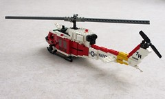 "NAS Fallon ""Longhorns"" HH-1N Iroquois (3) (Mad physicist) Tags: lego bell huey helicopter usnavy uh1 hh1n"