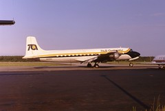 Slick Six (crusader752) Tags: washington airport dulles ramp 1987 continental trans douglas dc6b n616se pagejet