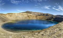 Krafla (Fil.ippo) Tags: travel lake water landscape lago island volcano iceland nikon crater caldera photomerge acqua viaggi filippo vulcano waterscape cratere islanda krafla viti sigma1020 d7000 filippobianchi