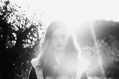Me. (Annemarie.) Tags: birthday trip morning trees vacation portrait blackandwhite italy sun white holiday black me nature girl monochrome face sunshine garden myself october break bokeh gray 15 sunrays fifteen salo