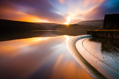 Over and out (billydorichards) Tags: longexposure blue sunset england sky orange water landscape unitedkingdom wideangle waterblur marsden sigma1020mm ndfilter butterleyreservoir nikond5000 bw11010stopnd kirkleesdistrict