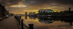 Quayside Morning (DavidO41) Tags: bridge sunrise newcastle north sage millennium east quayside