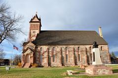 Pioneer meetinghouse (Great Salt Lake Images) Tags: paris fall idaho meetinghouse tabernacle redsandstone bearlakevalley