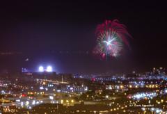 Congratulations to San Francisco Giants!!! (davidyuweb) Tags: sanfrancisco california usa game san francisco display fireworks twin after they giants peaks congratulations won sfist