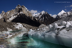 Baltoro Glacier. (Mountain Photographer) Tags: pakistan mountain mountains water area karakoram 8000m littleangle 7000m baltoroglacier alttitude marblepeak northran rizwansaddique highalttitude
