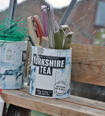 Yorkshire tea lovers..... (MWBee) Tags: warrington nikon cheshire greenhouse yorkshiretea gardeningtools thelwall d5000 mwbee