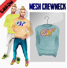 "CREDO - ""Odd Future"" Crew Neck (MATTY // *OMG*) Tags: new urban fashion blog sweater style fresh chillin secondlife sweat mens casual dope custom swag luxury exclusive stylish crewneck highquality oddfuture"