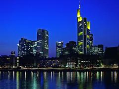 006 - with a longer time (TFRARUG) Tags: light skyline modern night towerbridge river frankfurt mainhattan