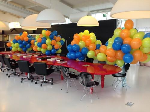 Heliumballonnen van Nelle Fabriek Rotterdam