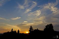 Solo cielo [Explored] (_milo_) Tags: sky italy silhouette canon eos italia nuvole cloudy blu campanile cielo castello rocca angera borromeo 18135 60d