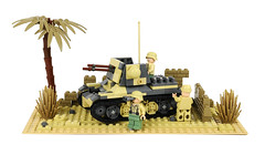 Against the Wall (Florida Shoooter) Tags: germany desert lego northafrica armor ww2 dak panzerjageri