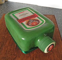 Jagermeister Bottle Shaped Cake