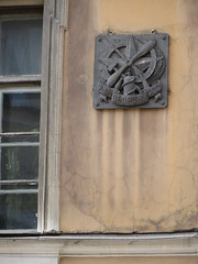 SPB Building Plaque - Strengthen Defense of the USSR (robert_m_brown_jr) Tags: architecture plaque stpetersburg russia military defense ussr sanktpeterburg  strengthen strengthendefenseoftheussr