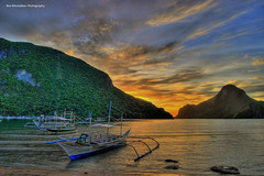 sunset in paradise (Rex Montalban) Tags: sunset philippines hdr banca elnido palawan hss photomatix limestonecliffs 5exp rexmontalbanphotography pse9 sliderssunday