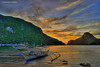 sunset in paradise (Rex Montalban Photography) Tags: sunset philippines hdr banca elnido palawan hss photomatix limestonecliffs 5exp rexmontalbanphotography pse9 sliderssunday