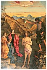 Il battesimo di Cristo di G.Bellini (sec.XVI),Chiesa di S.Corona (Matteo Bimonte) Tags: cristo battesimo vicenza tela veneto pittura dipinto santacorona giovannibellini