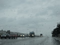 Rainy days and Fridays {4/365} (therealjoeo) Tags: car rain clouds truck highway texas 365 eighteenwheeler hutto 365project