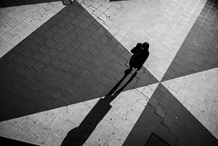 Where Are We Now? (petertandlund) Tags: street city shadow people urban blackandwhite bw woman blancoynegro monochrome backlight pattern sweden stockholm streetphotography sergelstorg sthlm bnw norrmalm skancheli