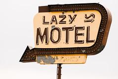 lazy motel (Sam Scholes) Tags: old sign colorado neon motel worn weathered neonsign grandjunction motelsign vintagesign lazymotel