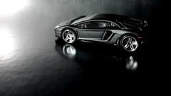 Aventador Black -7 (difenbaker) Tags: hotwheels 164 lamborghini nokian8 blacklambo lamborghiniaventador