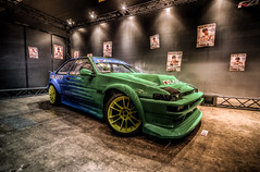 Falken livery (1/4th) Tags: classic cars japan nikon automobile wideangle autoshow tokina chiba toyota 86 hdr carshow falken drift makuharimesse ae86 photomatix tonemapping hachiroku worldcars falkenae86 d7000 tokina1116mmf28 tas2013 tokyoautosalon2013 falkenlivery