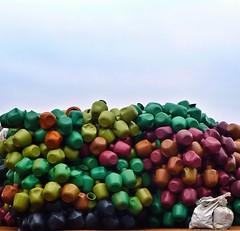 lotsa pots (Geoff Hyde) Tags: india color bangalore pot pots karnataka assortment waterpot devanahalli streephotography uploaded:by=flickrmobile flickriosapp:filter=nofilter