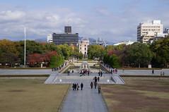 Hiroshima Peace Memorial Park 3 (Kit Carruthers) Tags: japan hiroshima cenotaph bomb atomic abombdome peaceflame worldpeacememorialpark