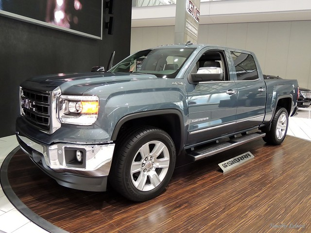 auto show new england up car boston truck silver grey expo pickup sierra pick 1500 gmc 2014 2013