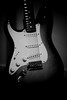 Day 28 - Generic Guitar Shot (leftyguk) Tags: blackandwhite squierstratocaster holgalens porject365