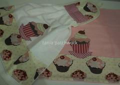 Kit Cozinha Cupcake Rosa e Chocolate..... (tania patchwork) Tags: cupcake patchwork cozinha panodeprato batemo