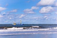 fishing (Jos Mecklenfeld) Tags: sea clouds landscape boot boat ship noordzee zee northsea fishingboat ricoh vissen cutter friesland schiermonnikoog kotter zoutkamp vissersboot zk1 gx200 ricohgx200 garnalenkotter