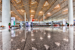 T3 PEK (Russ Beinder) Tags: china reflection cn airplane airport waiting candid beijing handheld t3 terminal3 hdr pek photomatix beijingcapitalinternationalairport 1424mmf28