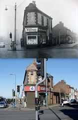 Blessington Road, Anfield, 1960s and 2013 (Keithjones84) Tags: liverpool merseyside thenandnow oldliverpool old oldphotos comparison localhistory history street road rephotography