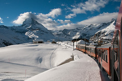 Gornergratbahn (boscoppa) Tags: mountain snow train switzerland gornergrat matterhorn gornergratbahn