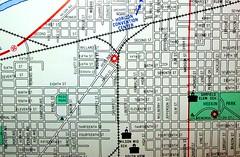 Muncie IN 1992 (davecito) Tags: city catchycolors town midwest map indiana ephemera planning transportation cartography geography muncie 1990s roadmap urbanplanning drafting streetmap citymap oldmap highwaymap