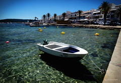 a boat in fornells (pmies photo) Tags: sea water boat barca menorca