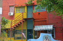 red steps to blue door (Hayashina) Tags: staircase southamerica door colours buenosaires argentina