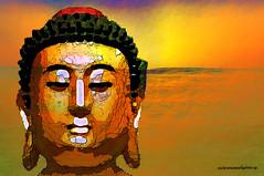 "BUDDHA-""Pain is inevitable, suffering is optional"" (Viktor Manuel 990) Tags: buddha buda face cara surrelism digitalart artedigital quertaro mxico victormanuelgmezg"