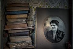 Abandoned books and photo. (ducatidave60) Tags: abandoned fuji decay fujifilm dereliction fujinonxf23mmf14 fujixt1