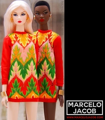 KNIT SWEATERDRESS NADJA & EDEN (marcelojacob) Tags: nadja rhymes eden cinematic dolls nuface marcelo jacob sweaterdress