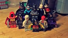The Bat-Family (LordAllo) Tags: lego dc batman family batgirl nightwing alfred robin azrael catwoman gordon damien wayne red hood spoiler
