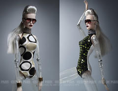High End Body Wear (Culte De Paris) Tags: high end body wear anika luxottica futuristic stage bodysuit crystal chocker blonde cyborg robot lovejoy ifdc 2016 it integrity toys culte de paris julia leroy jason wu haute couture fashionista style handcrafted miniature