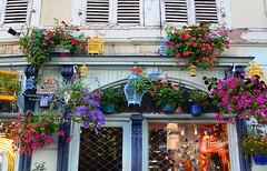 Da qualche parte a Colmar - Somewhere in Colmar (Ola55) Tags: ola55 france colmar case finestre houses windows flowers fiori colours colori estate summer italians