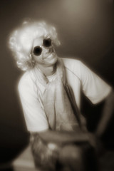 Brian (giltay) Tags: topw topwppl torontophotowalks torontophotowalksportraitsandpotluck brian blackandwhite blackwhite sepia lensbabyspark lensbaby lensbabyglasssingletoptic sunglasses wig portrait