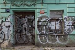 1116 Nov Msto, Prague (James D Evans - Architectural Photographer) Tags: prague czech czechrepublic architectre abaondoned emptybuildigs praha derelict graffiti